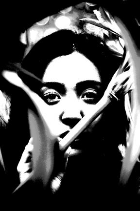 Photo Filter - #PhotoEffect #PhotoFilter #PhotographyFilter #face #mouth #eyelash #hair #green