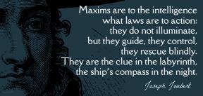 Joubert - maxim are to the intelligence