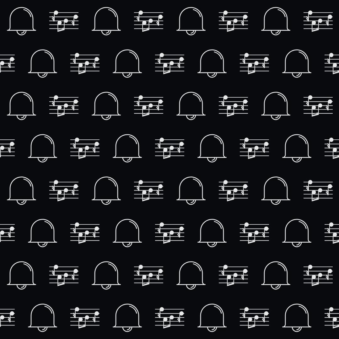 Pattern Design - #IconPattern #PatternBackground #church #education #tool #music #bells #ringing