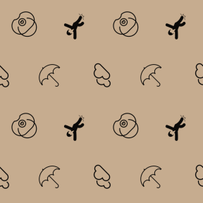 Pattern Design - #IconPattern #PatternBackground #cloudy #utensils #sprains #meteorology #wounded #childhood #clouds
