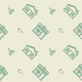 Pattern Design - #IconPattern #PatternBackground #building #gems #shopping #diamond #chimney