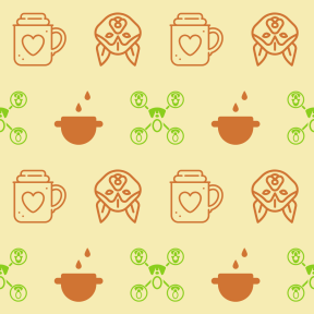 Pattern Design - #IconPattern #PatternBackground #Tools #cooking #utensils #people #dog #connected