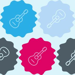 Pattern Design - #IconPattern #PatternBackground #wavy #ovals #spanish #flamenco #raggedborders #acoustic