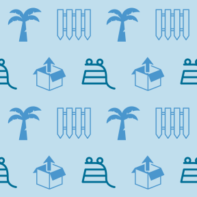 Pattern Design - #IconPattern #PatternBackground #tool #container #shopping #coconuts #summertime #horizontal #buildings #stripes #palm