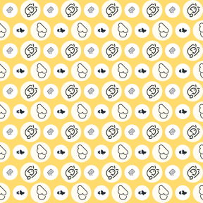 Pattern Design - #IconPattern #PatternBackground #round #insect #animal #wings #circle #garden #sadness