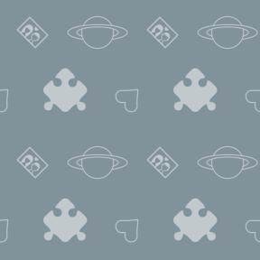 Pattern Design - #IconPattern #PatternBackground #hearts #puzzle #part #piece #astronomy #space
