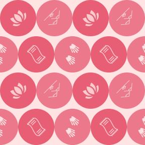 Pattern Design - #IconPattern #PatternBackground #hygiene #bath #house #circle #medical #circular #shape #oriental #black