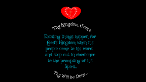 Thy Kingdom Come #obedience #listen #spirit #word