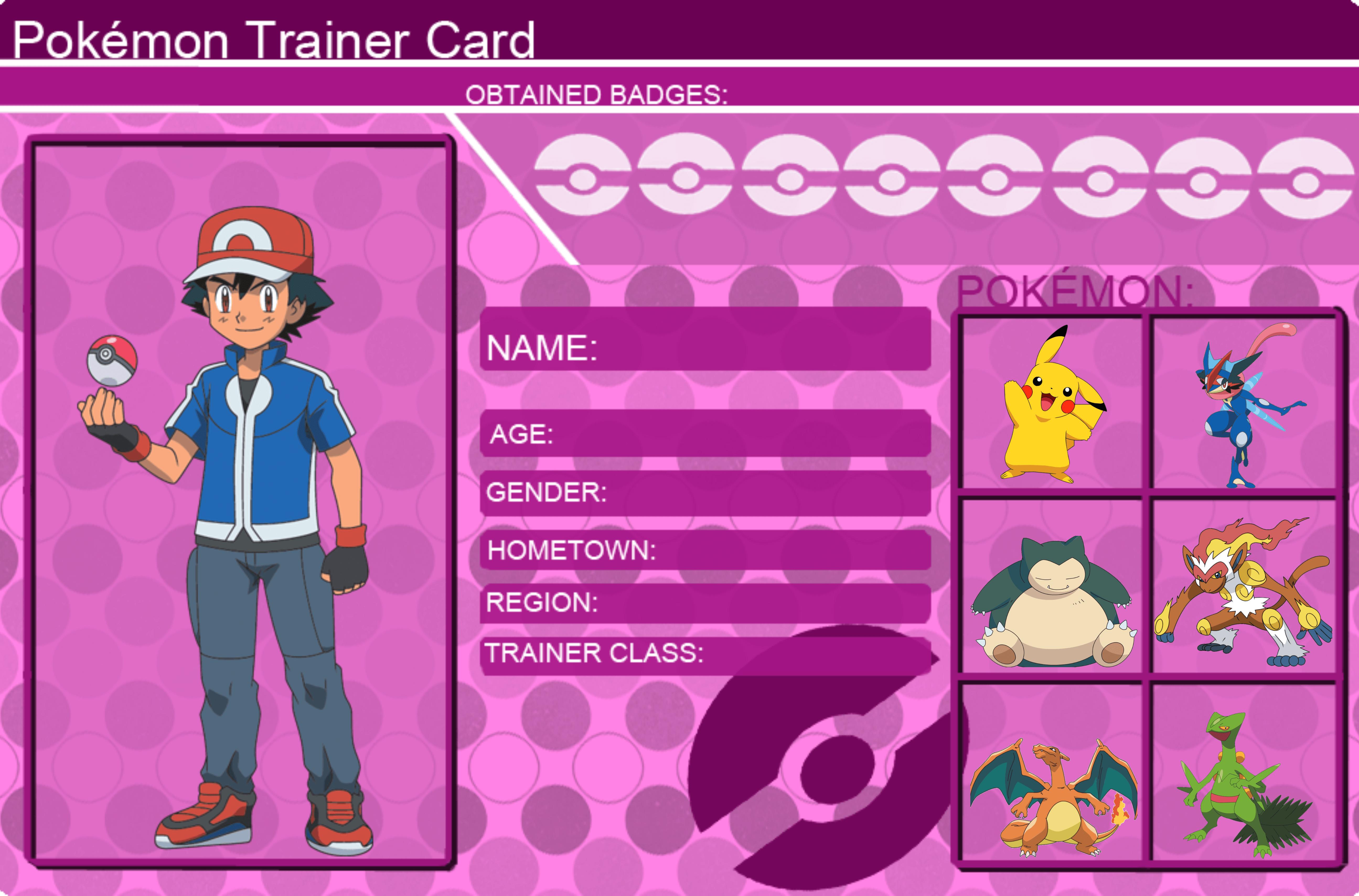 Rine › Pokemon Ash trainer card