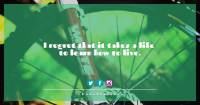 Quote Card Design - #Quote #Saying #Wording #icon #aqua #accessory #graphics #bicycle #font