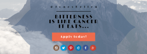 Call to Action Quote Header - #CallToAction #Saying #Quote #Wording #scalloped #mountain #sign #rounded #blue #font