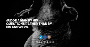 Quote Card Design - #Quote #Saying #Wording #art #fauna #logo #font #mammal #blue #electric #trademark