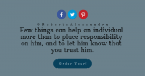 Quote Card Layout - #CallToAction #Quote #Saying #Wording #blue #ragged #trademark #circle #corners #strips