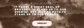 Call to Action Quote Header - #CallToAction #Saying #Quote #Wording #taken #strips #ribbon #horizon #scalloped #earth #clouds #bands