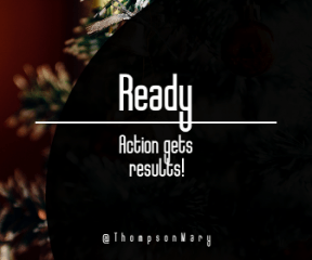 Wording Banner Ad - #Saying #Quote #Wording #black #shape #pine #christmas #circular #view #shapes #decoration #tree