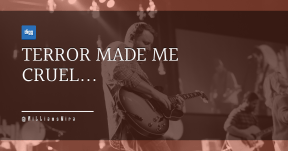 Quote Card Design - #Quote #Saying #Wording #font #concert #guitarist #and #performance
