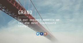 Quote Card Design - #Quote #Saying #Wording #rectangle #cloud #atmosphere #product #Bridge #azure