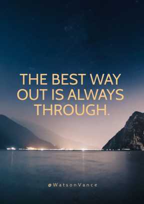 Print Quote Design - #Wording #Saying #Quote #atmosphere #sea #horizon #fjord #mountain #lake #nature #night