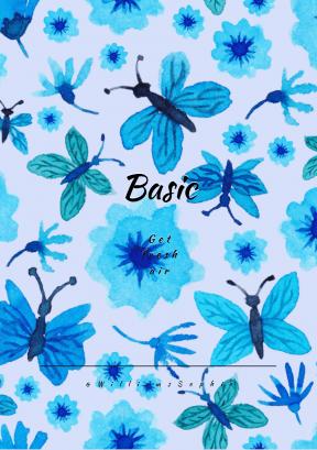 Print Quote Design - #Wording #Saying #Quote #blue #petal #flower #butterflies #plant #pattern