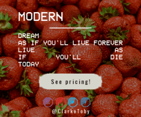 Call to Action Banner Layout - #Wording #CallToAction #Saying #Quote #line #food #strawberry #stars #with #di #area #purple #corners