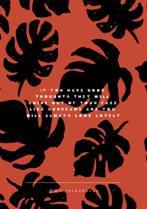 Print Quote Design - #Wording #Saying #Quote #plant #design #white #black #pattern #and #flora #flowering #silhouette