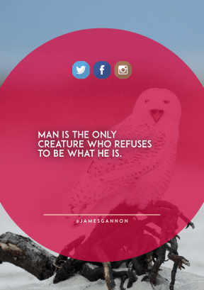 Print Quote Design - #Wording #Saying #Quote #sign #logo #azure #owl #blue #snow