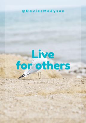 Print Quote Design - #Wording #Saying #Quote #gull #shore #sea #beak #coast