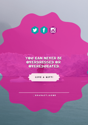 Quote Layout for Print - #Saying #Quote #CallToAction #Wording #circles #waterway #ice #icon #grungy #decorative #product #pink #line