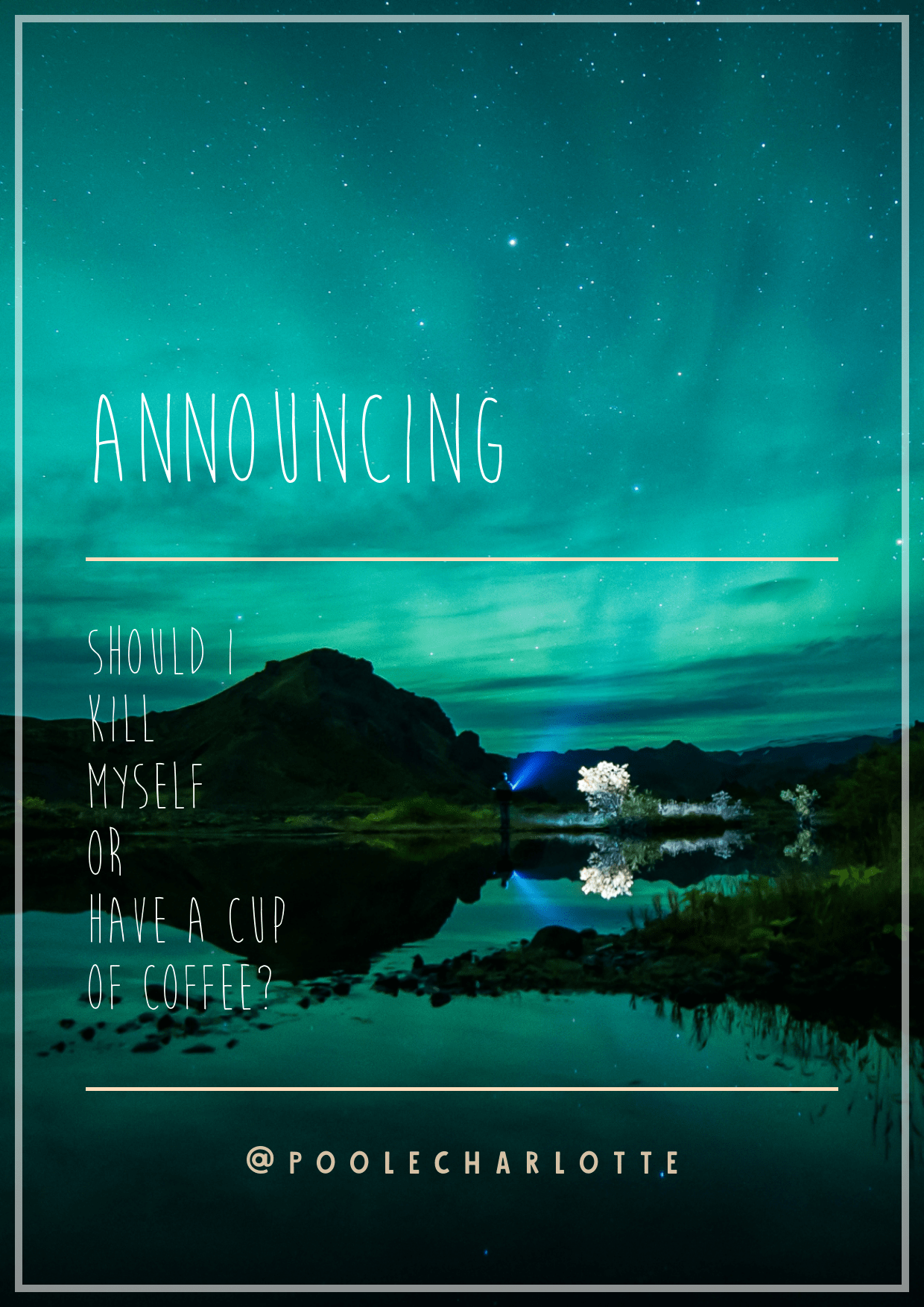 Nature,                Sky,                Atmosphere,                Text,                Reflection,                Poster,                Calm,                Water,                Font,                Resources,                Wallpaper,                Night,                Aurora,                 Free Image