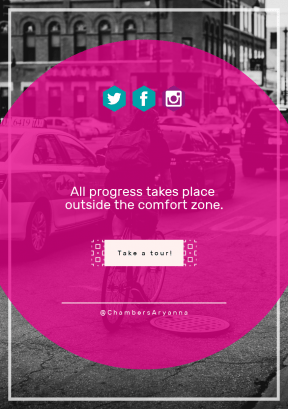 Quote Layout for Print - #Saying #Quote #CallToAction #Wording #road #white #Chicago #rectangles #violet #font