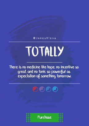 Quote Layout for Print - #Saying #Quote #CallToAction #Wording #blue #green #panels #boxy #font