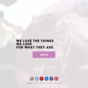 Call to action design layout - #CallToAction #Wording #Saying #Quote #brand #font #cat #circle #haired #whiskers #logs