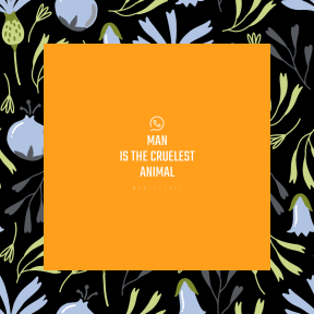 Square design layout - #Saying #Quote #Wording #pattern #chatting #plant #leaf #social #branch #green #blue #design #flower
