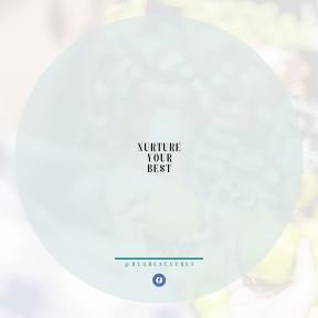 Square design layout - #Saying #Quote #Wording #food #store #circle #logo #natural