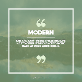 Square design layout - #Saying #Quote #Wording #clear #range #mountains #wilderness #sign #A #quote