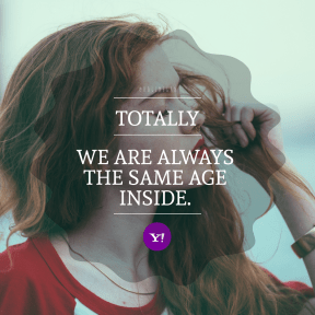 Square design layout - #Saying #Quote #Wording #symbol #holds #girl #font #violet #hair #woman