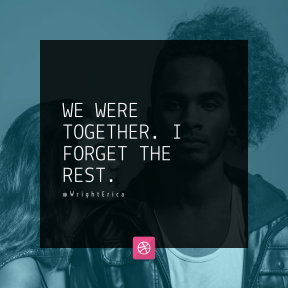 Square design layout - #Saying #Quote #Wording #white #interaction #shoot #pink #hair #black #photography #design #photo #font