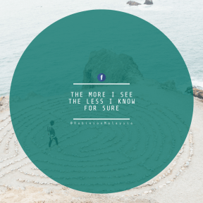Square design layout - #Saying #Quote #Wording #rocks #person #oceanic #circles #symbol #blue