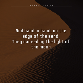 Square design layout - #Saying #Quote #Wording #sky #orange #erg #sand #aeolian #landform #sahara #desert #dune #singing