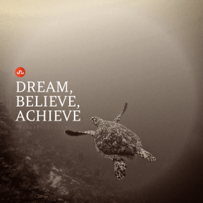 Square design layout - #Saying #Quote #Wording #graphics #circle #underwater #turtle #symbol #red