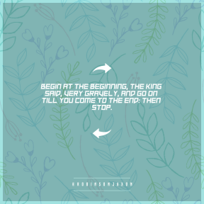 Square design layout - #Saying #Quote #Wording #direction #arrows #branch #right #flora #line