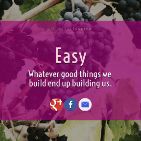 Square design layout - #Saying #Quote #Wording #bunch #brand #logo #blue #grapevine.