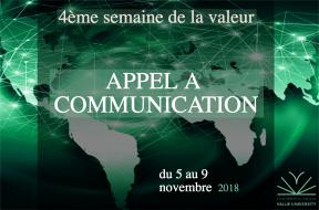 Appel à la communication