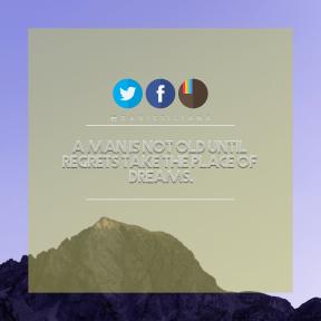 Square design layout - #Saying #Quote #Wording #mountain #art #circle #ridge #sky #azure #aqua #blue #cloud