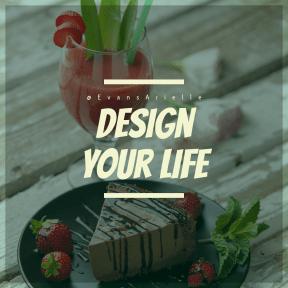 Square design layout - #Saying #Quote #Wording #dessert #frozen #strawberries #fruit #garnish #food #flavor
