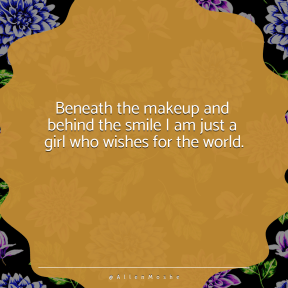 Square design layout - #Saying #Quote #Wording #jagged #flowering #decorative #flower #ovals #fancy