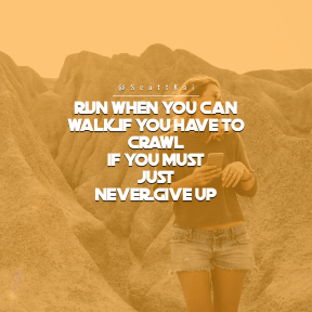 Square design layout - #Saying #Quote #Wording #outcrop #photography #while #rock #woman