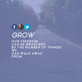 Square design layout - #Saying #Quote #Wording #blue #road #A #circle #down #tree #font #view #art