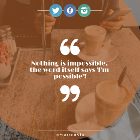 Square design layout - #Saying #Quote #Wording #logo #product #smartphone #sitting #left #coffee #wing #drum #line #latte