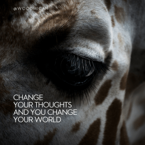 Square design layout - #Saying #Quote #Wording #giraffe #fur #eye #giraffidae #head #up #close #organ #nose #snout